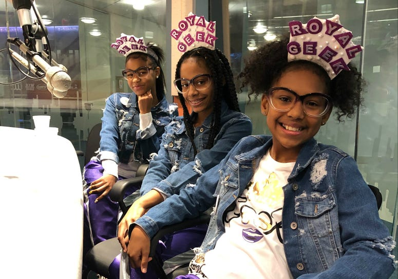 Hip hop trio The Royal Mix, comprised of Saniyah Babb, Rashiyah Dennis and Giselle Martin.