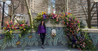 Rittenhouse Square flower bomb