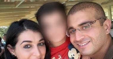 Noor Salman, seen here on the left, was charged with providing material support to a foreign terrorist organization and obstruction of justice.