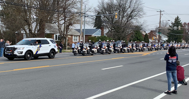 Motorcade procession for late Philadelphia Police Sgt. James O'Connor