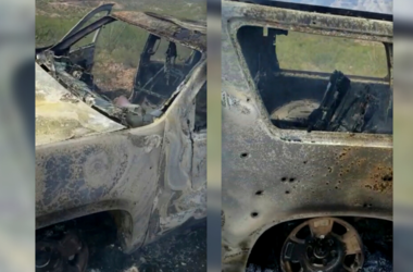 Burned-out vehicle