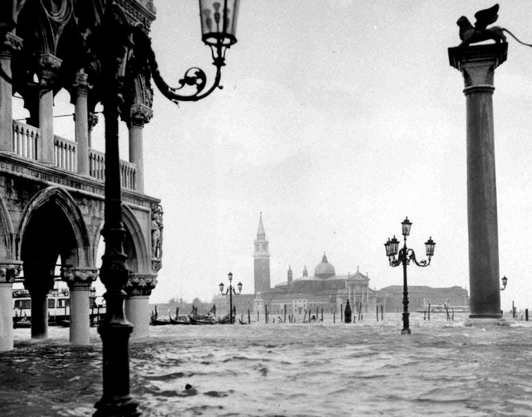 Flooding in Venice in 1966