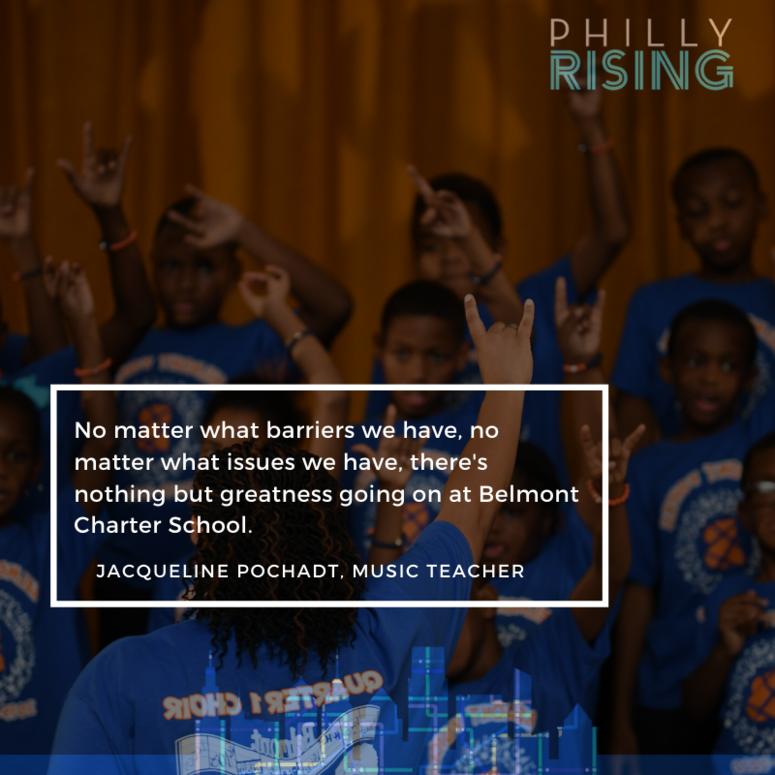 Text of a quote when Belmont Charter School music teacher Jacqueline Pochadt spoke about Belmont Voices.