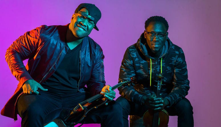 Black Violin's Wil Baptiste and Kev Marcus