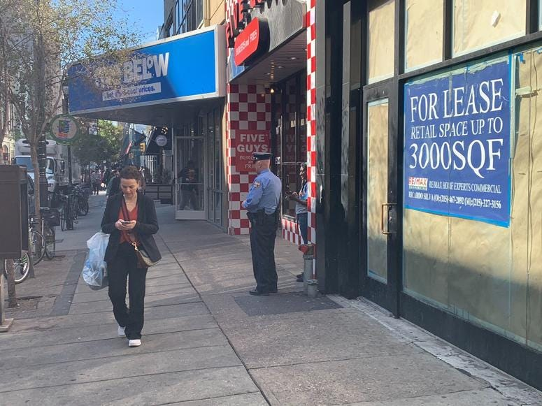 The Philadelphia Police Department has placed extra officers on some streets to keep an eye on students who have been running roughshod over merchants since the school year began.