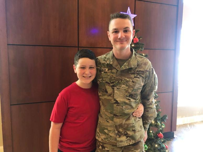 Mark Ditizio and his brother, Private Second Class Eric Shaw