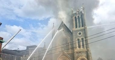 West Philly church on fire