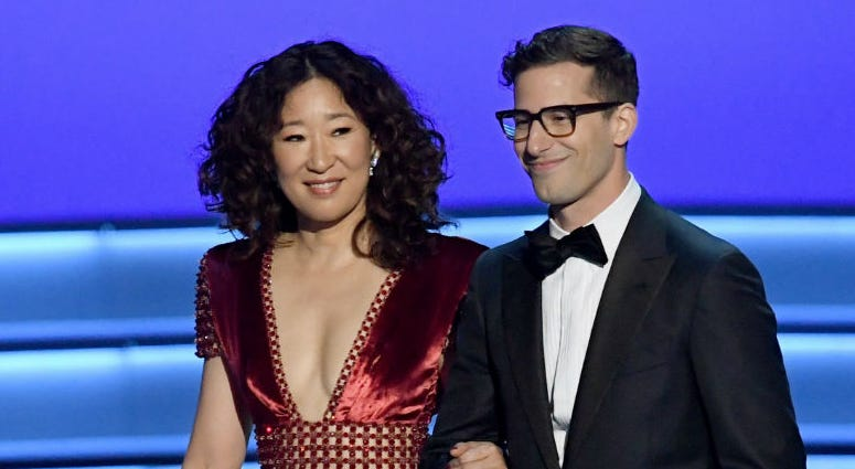 Sandra Oh and Andy Samberg