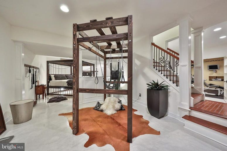 Priced at $750,000, this private, quiet Maple Glen home includes a fully furnished sex dungeon.