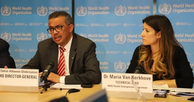 World Health Organization Director-General Tedros Adhanom Ghebreyesus speaks at a press conference in Geneva, Switzerland, on March 11, 2020.