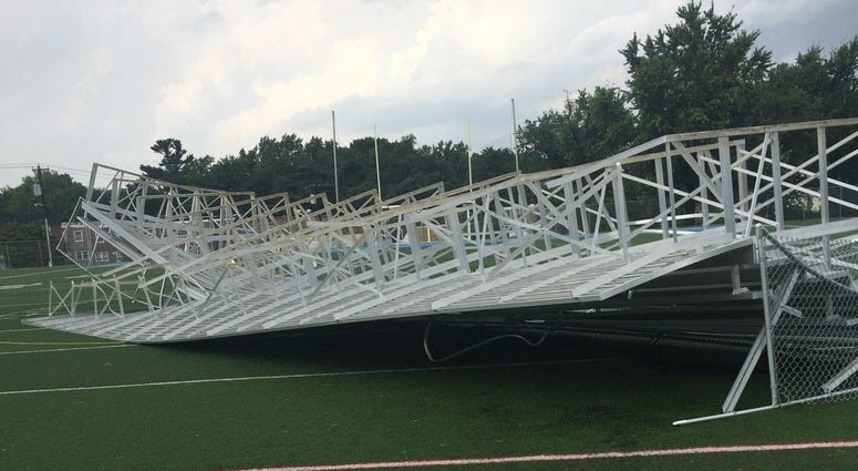 Wednesday's storm caused major damage to the Northeast Philadelphia park that was supposed to host the city's International Unity Cup tournament kick off.