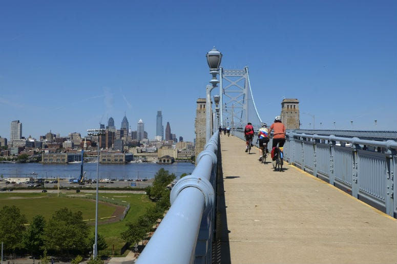 The Ben Franklin Bridge just became a lot more accessible for pedestrians and cyclists.