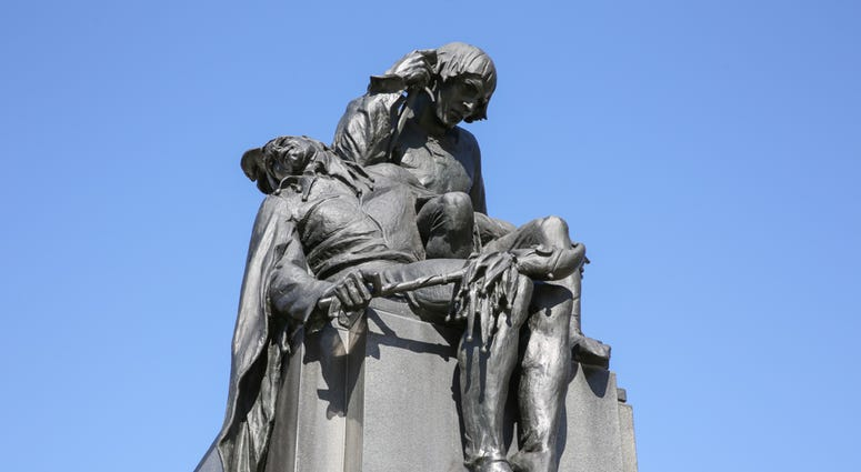 Shakespeare Memorial by Alexander Stirling Calder located near Logan Square.