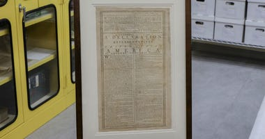A rare copy of the Declaration of Independence is going on display Tuesday at the Museum of the American Revolution.
