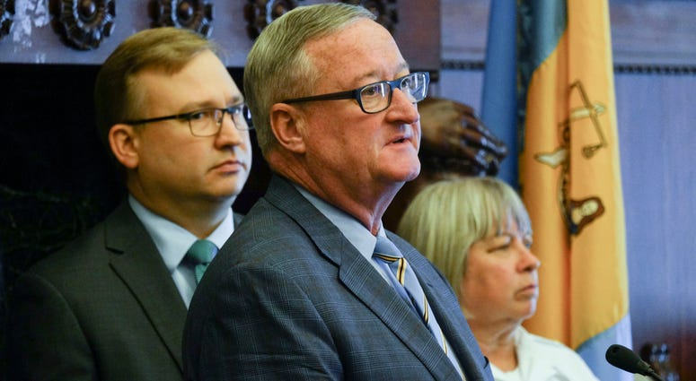 From left: Managing Director Brian Abernathy, Mayor Jim Kenney, Acting Commissioner Christine Coulter