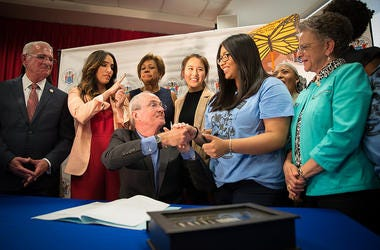 Governor Phil Murphy signs a bill allowing New Jersey DREAMers to be eligible to receive state tuition assistance.
