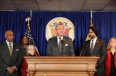 Governor Phil Murphy announces recommendations from the Criminal Sentencing and Disposition Commission in Trenton on November 14, 2019.