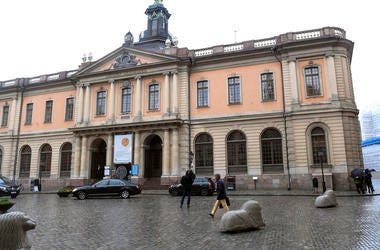 The old Stock Exchange Building, home of the Swedish Academy in Stockholm. For the first time since 1943, there's a notable risk that no Nobel Prize in literature will be awarded this year.