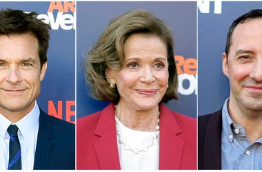 """From left: Jason Bateman, Jessica Walter and Tony Hale at the """"Arrested Development"""" season five premiere."""