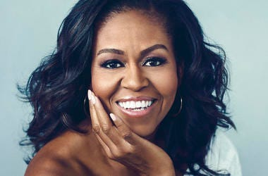 """This cover image released by Crown Publishing Group shows """"Becoming,"""" by Michelle Obama, which comes out Nov. 13."""