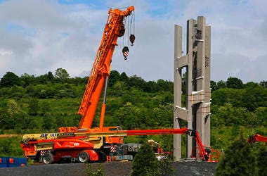 The final phase of the memorial is underway and on track to open on the 17th anniversary of plane's crash into a Pennsylvania field during 9/11.