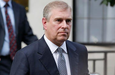 Britain's Prince Andrew leaves King Edward VII hospital in London after visiting his father Prince Philip on June 6, 2012..