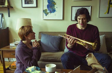"""This image released by Netflix shows Scarlett Johansson, left, and Adam Driver in """"Marriage Story."""""""