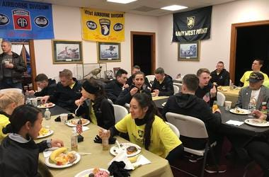 Cadets on the way to Army-Navy game
