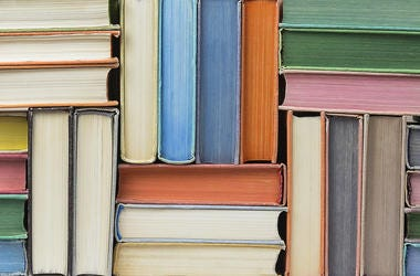 Books stacked in texture.
