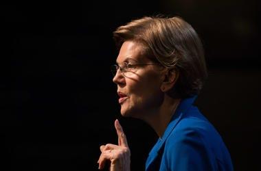 Democratic presidential candidate Sen. Elizabeth Warren (D-MA) delivers an economic policy speech.