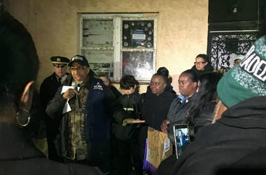 The Frankford community came together Wednesday night to rally around the family of a 10-year-old boy who was shot last week as he was walking home from school.