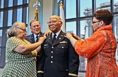 In June of 2018, John E. James Jr. got his officers commission at the Museum of the American Revolution, 75 years after his graduation.