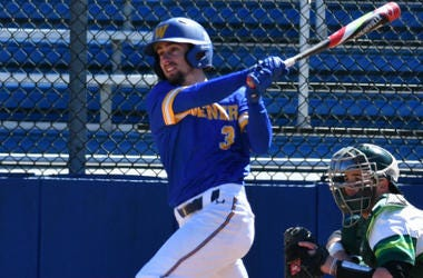 Widener junior infielder Stephen DeBellis