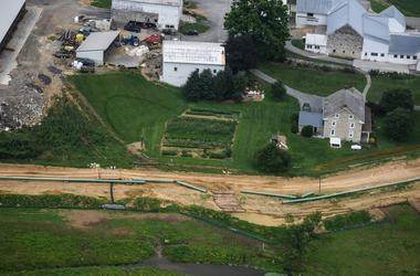 Construction for the Sunoco Mariner East pipeline continues in South Lebanon Township.