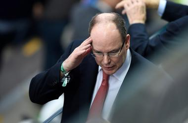 Prince Albert of Monaco in attendance during the semifinal match in the 2014 World Cup between Netherlands and Argentina at Arena Corinthians.