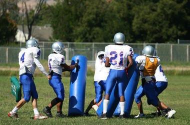 Football practice.