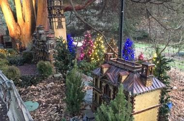 Holiday Garden Railway Nights at the Morris Arboretum.