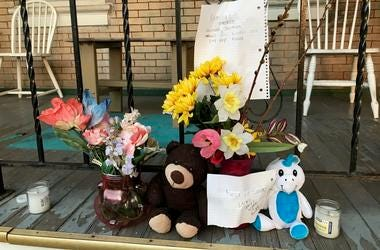 A makeshift memorial is set up for Samuel Jackson, a Vietnam War veteran who was  struck and killed in Norristown on Sunday evening.