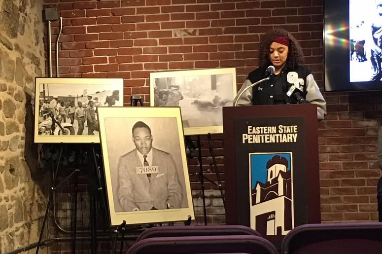 Free exhibit at penitentiary honors King, prompts talk about civil rights progress