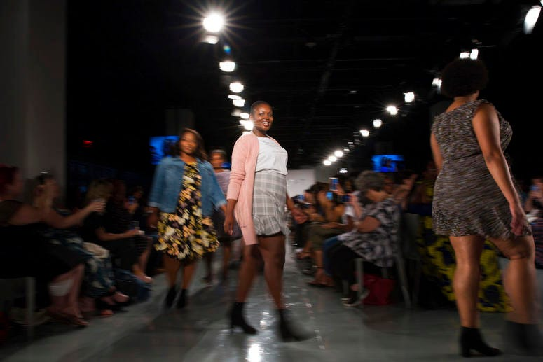 The Loft spring 2019 collection is modeled during Fashion Week Friday, Sept. 7, 2018, in New York.