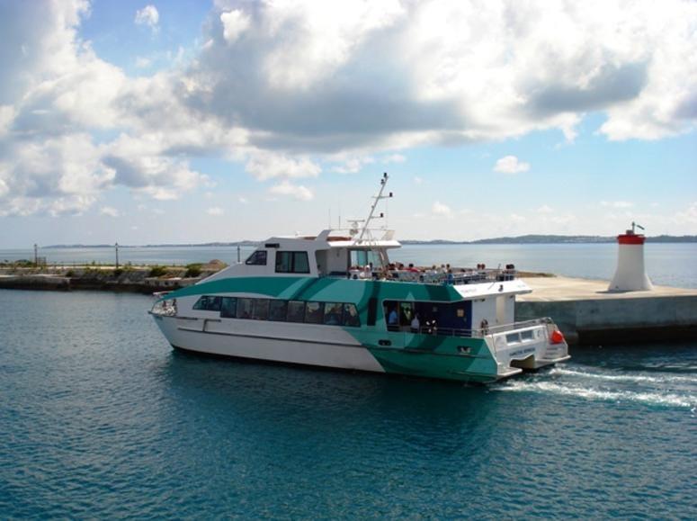 A ferry in Bermuda