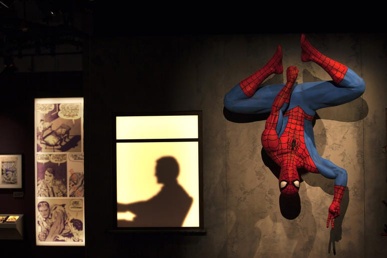 """Marvel: Universe of Super Heroes,"" an immersive exhibition featuring more than 300 original artifacts, includes some of Marvel's most iconic costumes, props, and original art. It opens April 13 at The Franklin Institute."