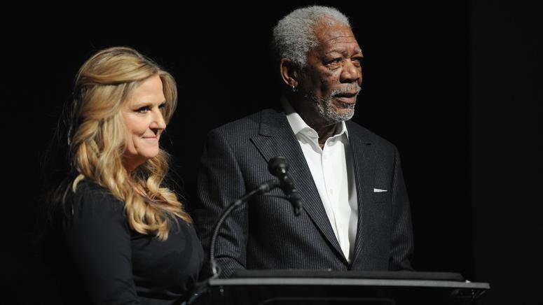 Morgan Freeman and Lori McCreary