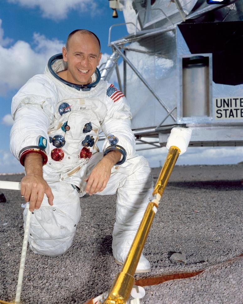 Alan Bean, the fourth person to walk on the moon and the last surviving member of the Apollo 12 mission, died Saturday in Houston, according to his family and NASA. He was 86.