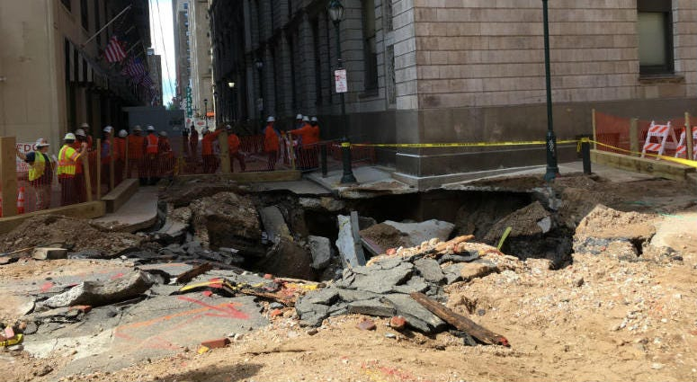 Center City Water Main Break