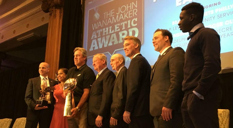 The coveted Wanamaker Award is presented to the athlete or team that has done the most to bring credit to Philadelphia.