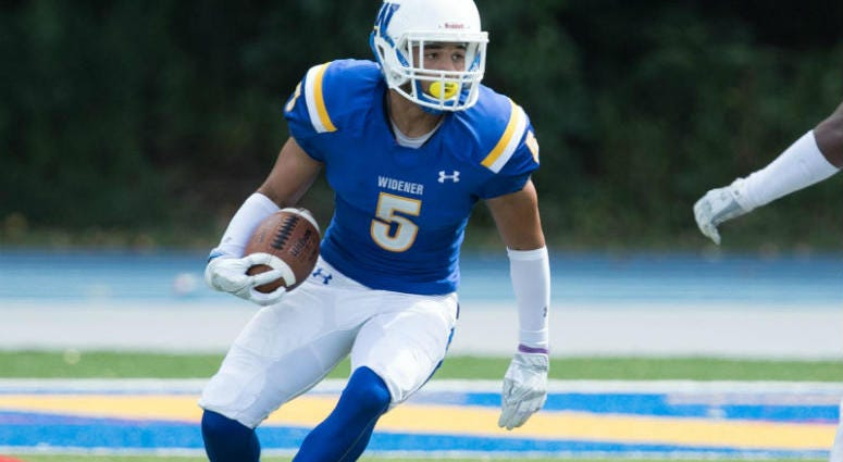 Jordan Powell scored eight touchdowns during his Widener career.