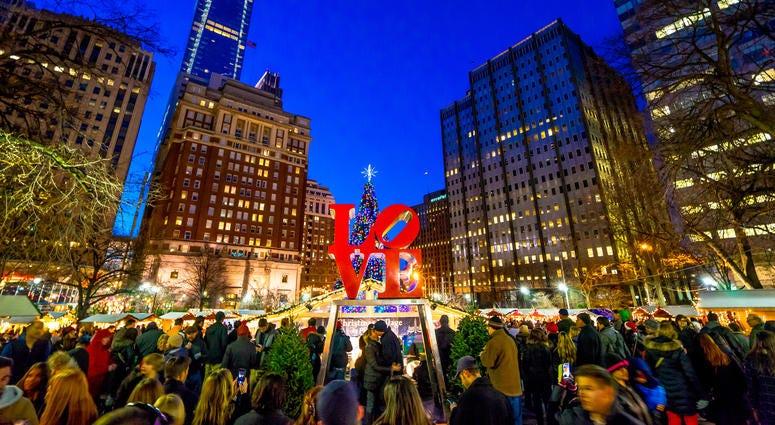 The Christmas Village is returning to Love Park in Philadelphia.