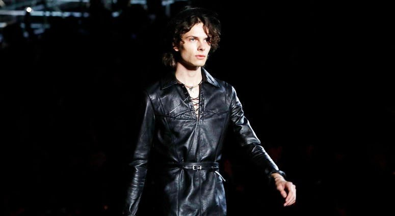 Fashion from the Saint Laurent Spring 2019 menswear collection.