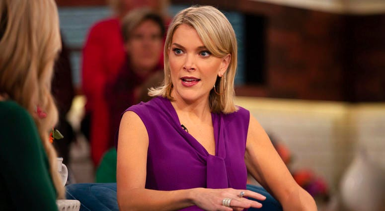 """In this Oct. 18, 2018 photo released by NBC, host Megyn Kelly appears on her show """"Megyn Kelly Today,"""" in New York."""